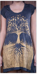 Sure Design Womens Dress Tree of Life in Gold on Black