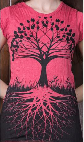 Sure Design Womens T-Shirts Tree of Life in Red