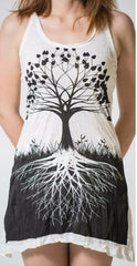 Sure Design Womens Tank Dress Tree of Life in White