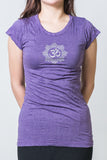 SureDesign Women's Super Soft Tshirt Om Purple