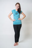 SureDesign Women's Super Soft Tshirt Om Turquoise