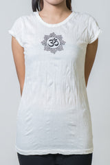 SureDesign Women's Super Soft Tshirt Om White