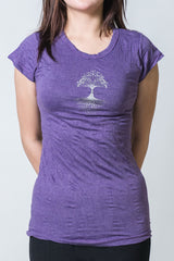 SureDesign Women's Super Soft Tshirt Tree Of Life Purple