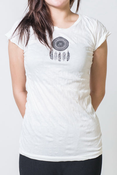 SureDesign Women's Super Soft Tshirt Dream Catcher White