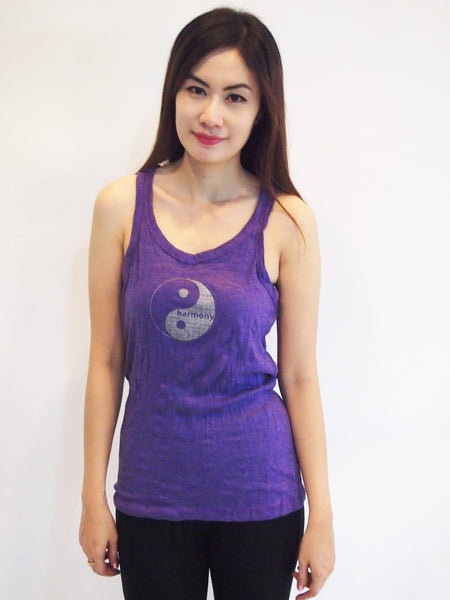 SureDesign Women's Super Soft Tank Top Yin Yang Purple