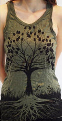 Sure Design Womens Tank Top Tree of Life in Green
