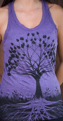 Sure Design Womens Tank Top Tree of Life in Grape