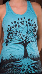 Sure Design Womens Tank Top Tree of Life in Turquoise