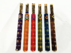 Set of 6 Pair Mango Wood ChopSticks With Thai Hill Tribe Holders