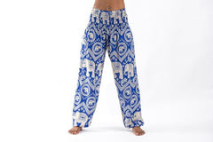 Imperial Elephant Harem Pants in Blue