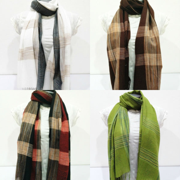 Wholesale Set of 10 Nepal Fair Trade Pashmina Scarves Shawls Plaid