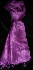 100% Fair Trade Thai Silk Solid Color Scarf Shawl Magenta
