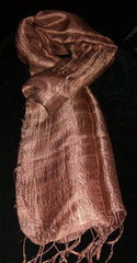 100% Fair Trade Thai Silk Solid Color Scarf Shawl Peach