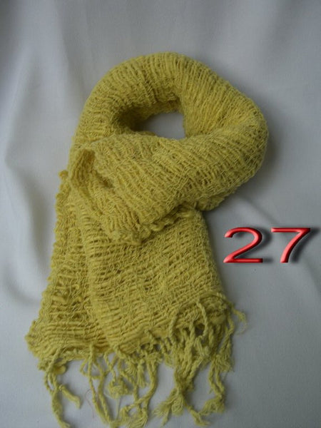 Fair Trade 100% Organic Cotton Scarf Lime
