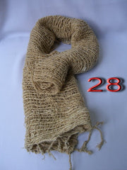 Fair Trade 100% Organic Cotton Scarf Sandy Brown