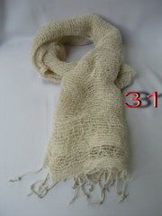 Fair Trade 100% Organic Cotton Scarf Ivory White