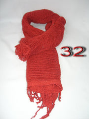 Fair Trade 100% Organic Cotton Scarf Red