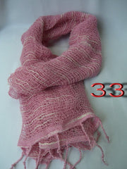 Fair Trade 100% Organic Cotton Scarf Pink