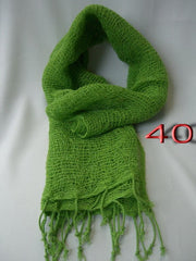 Fair Trade 100% Organic Cotton Scarf spring Green