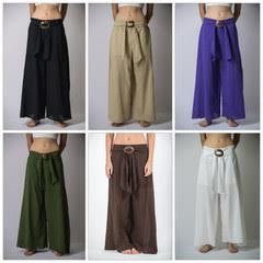 Wholesale Set of 10 Thailand Super Soft Organic Cotton Wide Leg Yoga Fisherman Pants