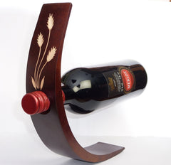 Amazing Gravity defying Wine bottle Holder Teak wood