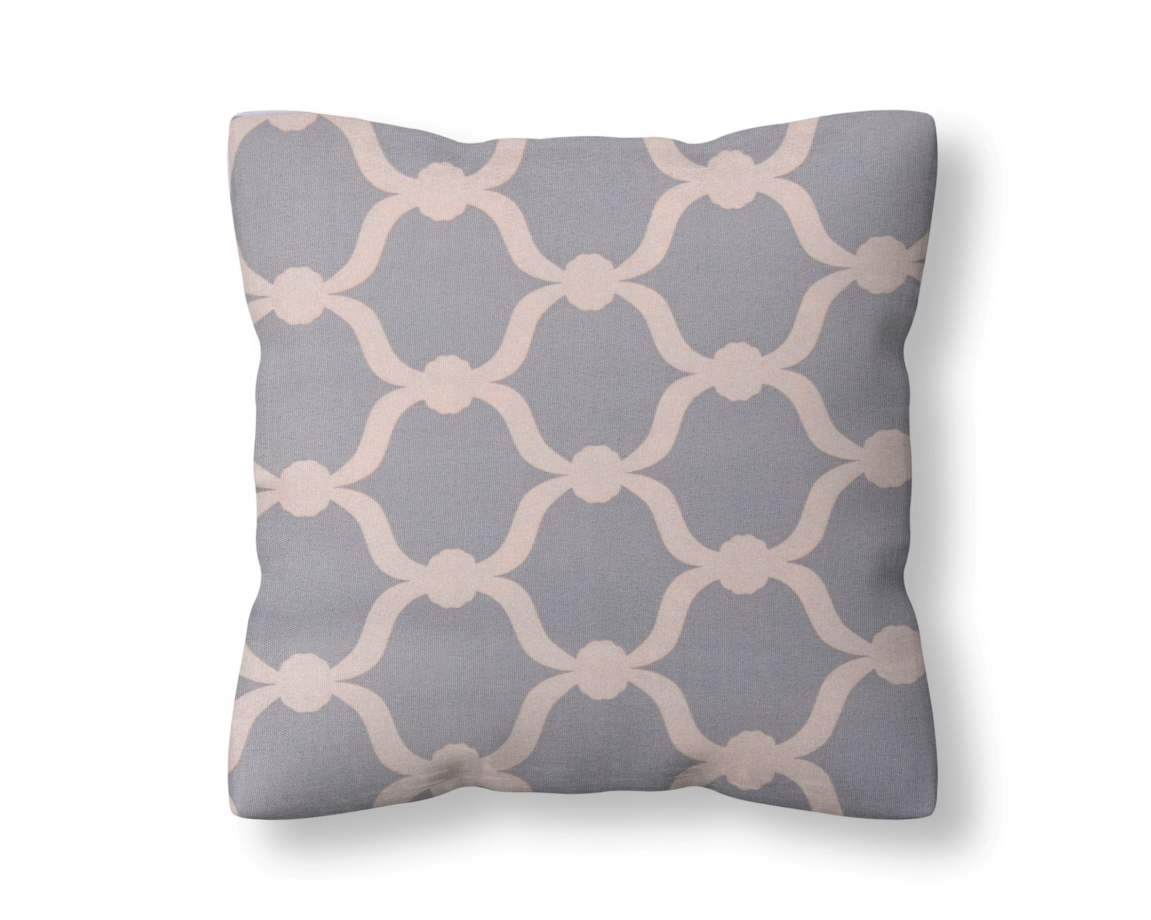 Premium Quatrefoil Cotton Cushion Cover