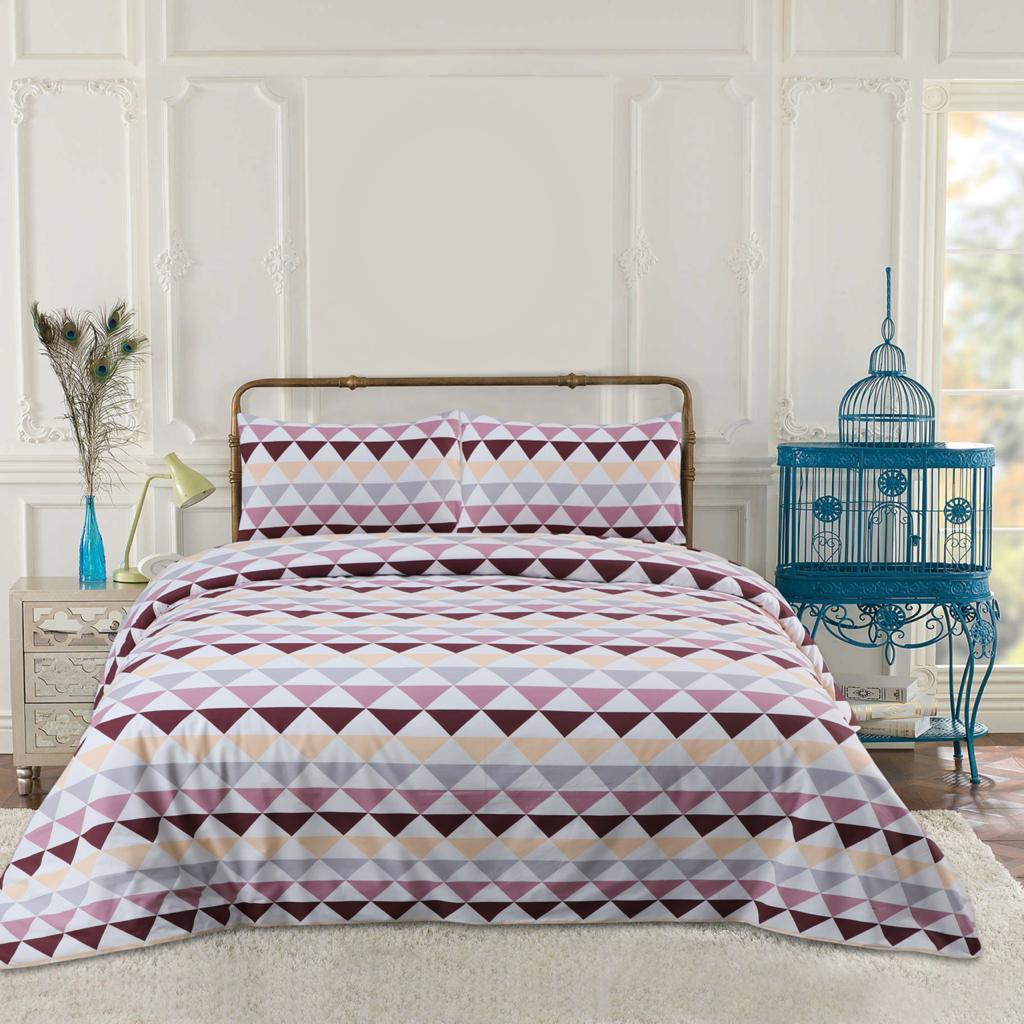 Retro Triangles Cotton Bed Sheet