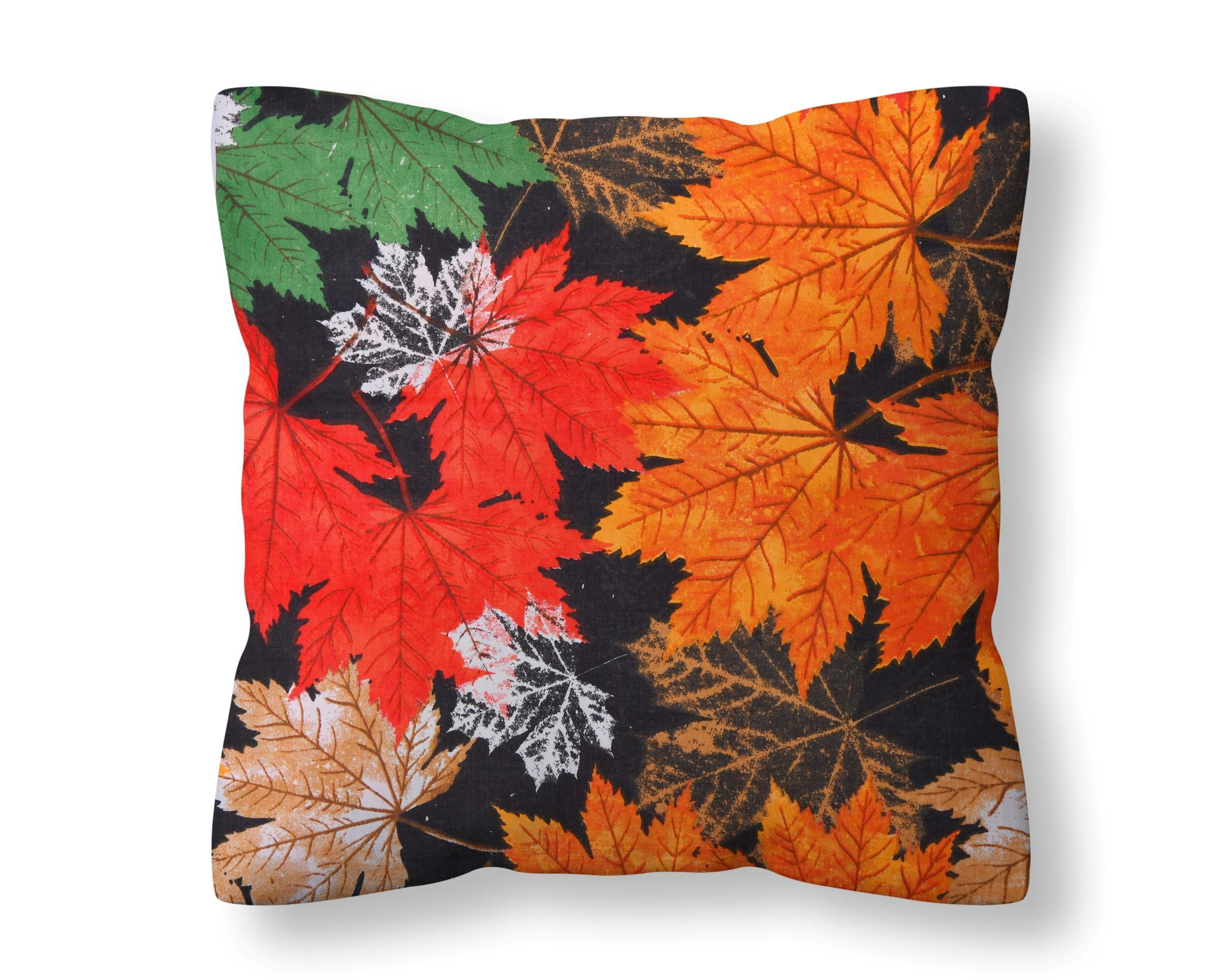 Autumn Maple Leaves Cushion Cover