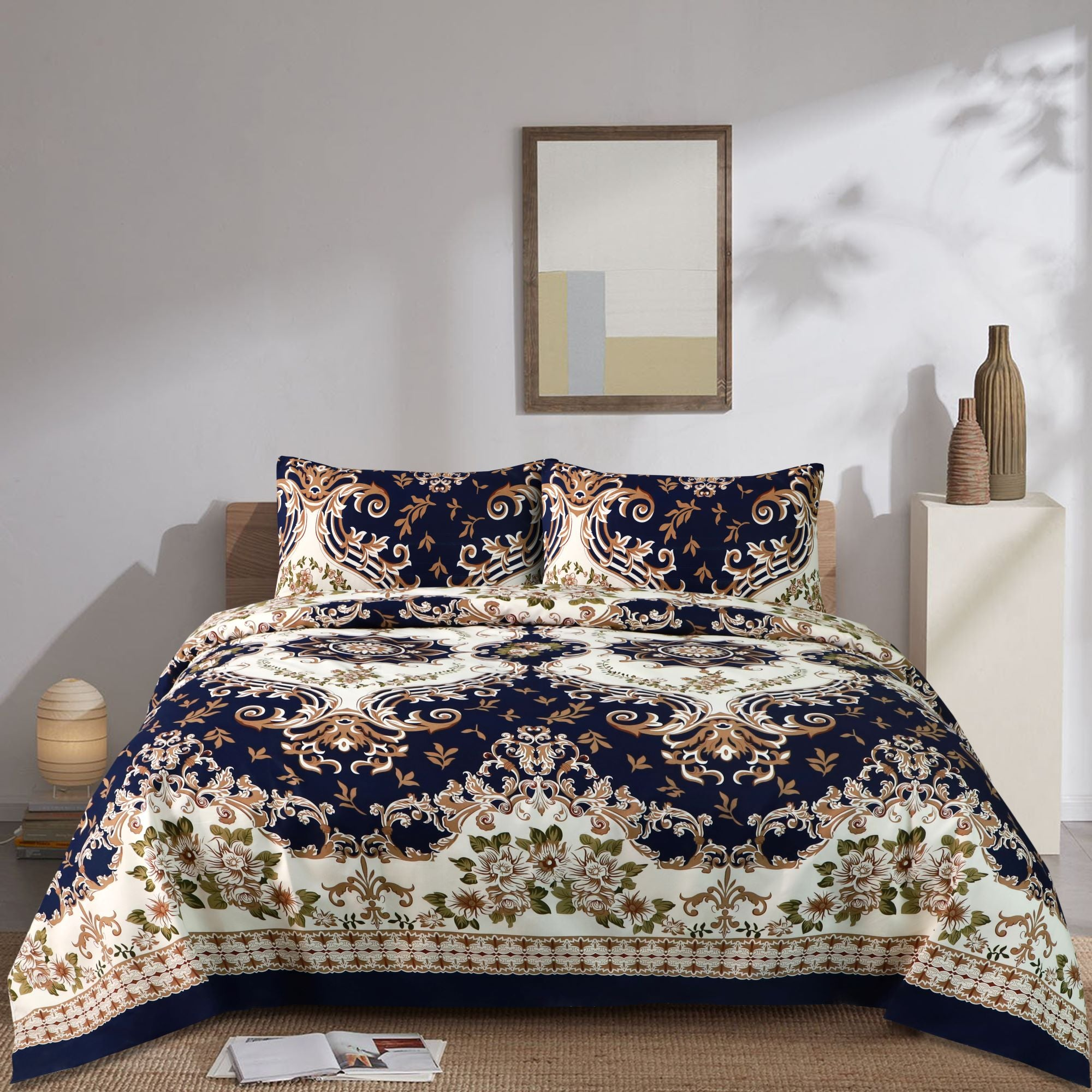 Serafino Floral Cotton Bed Sheet