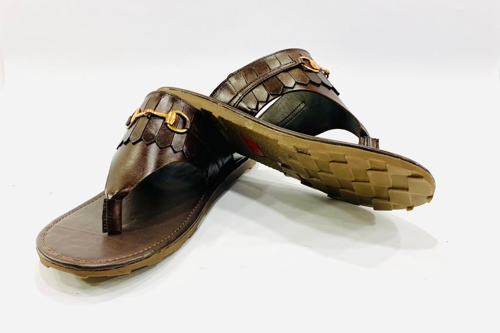 Premium Tobbaco Slippers with Buckle