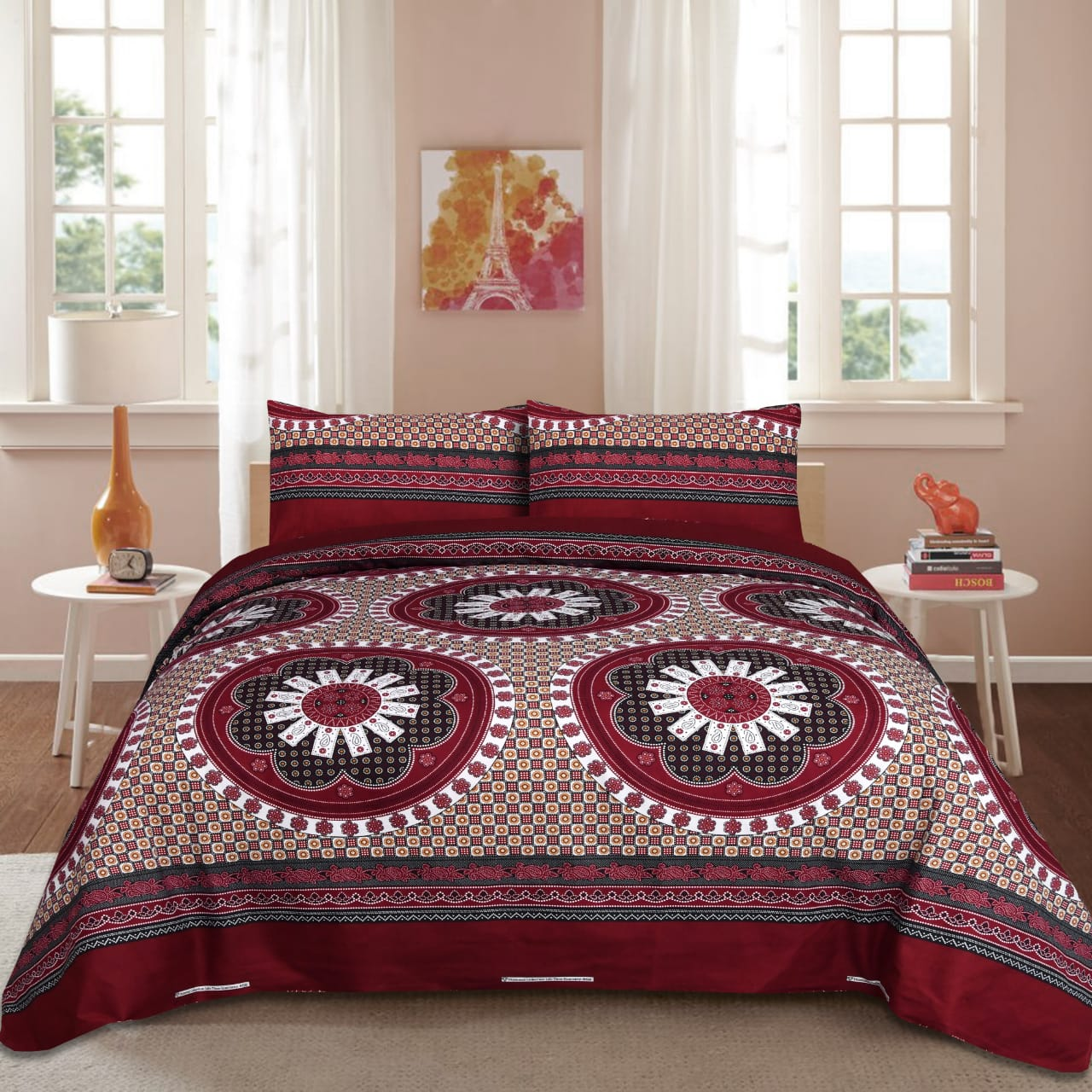 Folklore Circle Cotton Bed Sheet