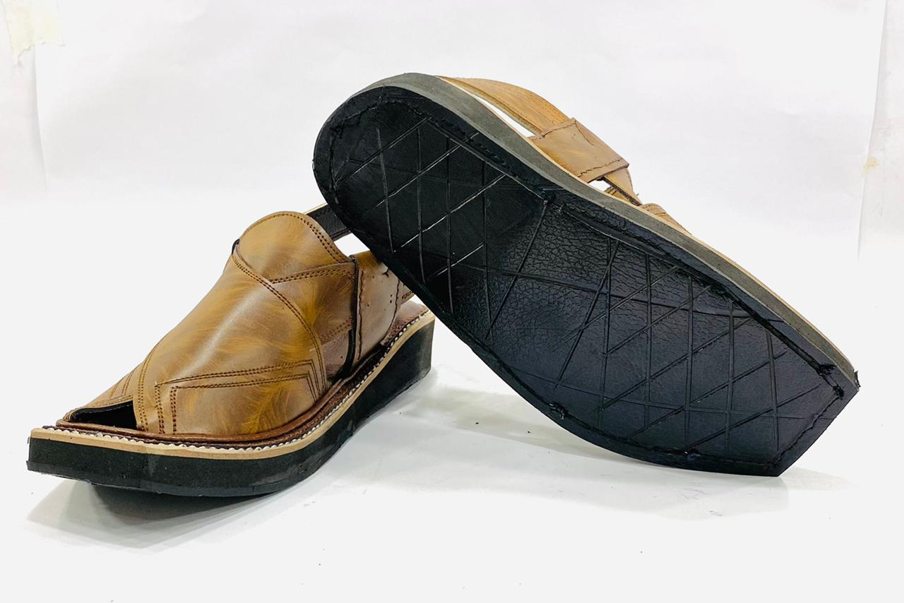 Kaptaan Brown Leather Sandals