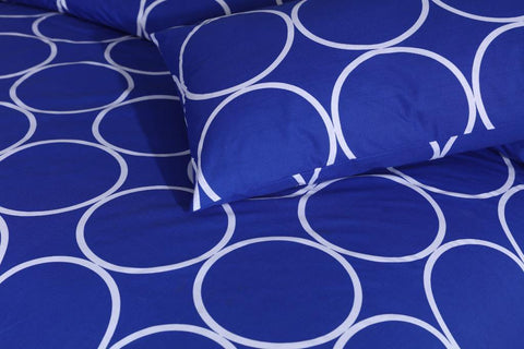 Indigo Circle - Cotton Bed Sheet - Daily Essentials