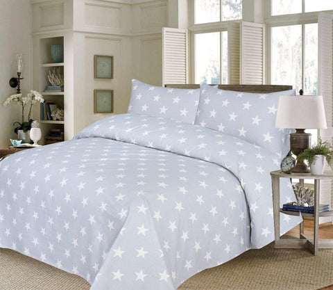 Stars Premium Percale Cotton Bed Sheet - Daily Essentials