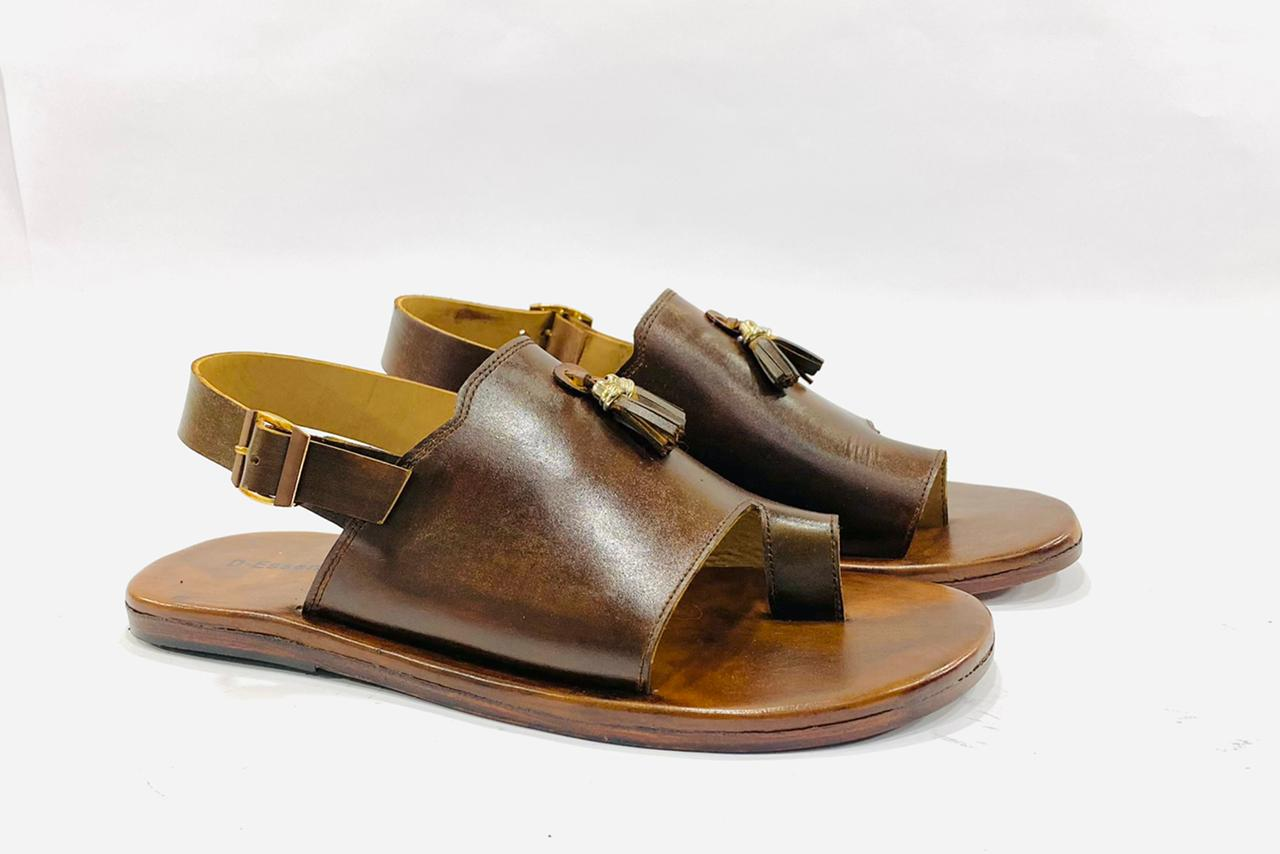 Royal Brown Leather Sandals