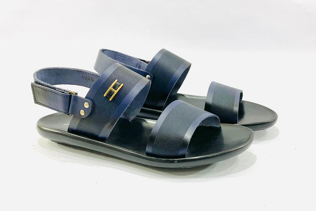 Merlin Blue Leather Sandals