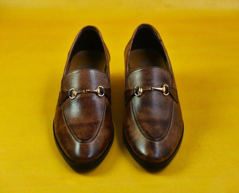 Premium Brown Two Tone Shoe - Daily Essentials