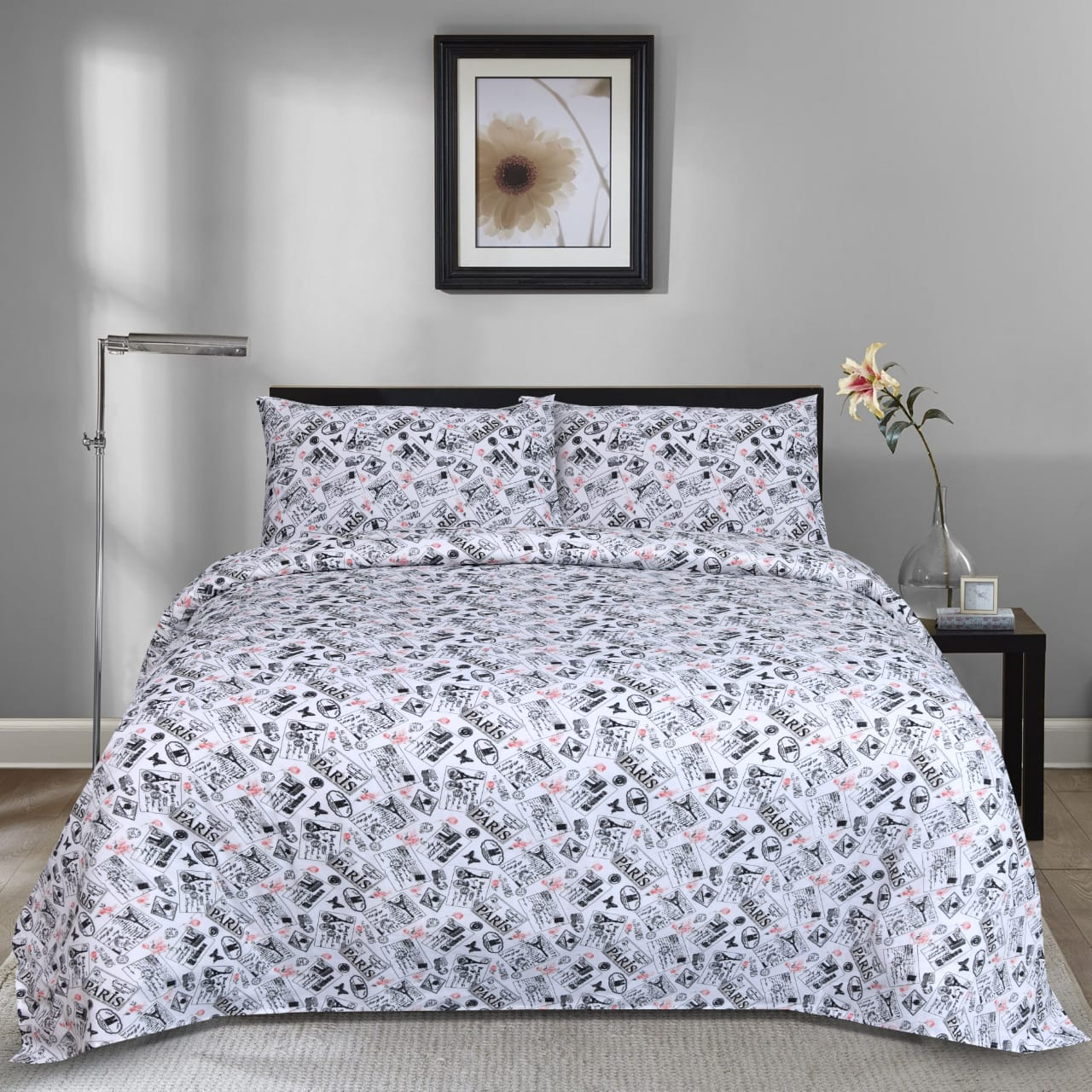 Bonjour Paris Cotton Bed Sheet