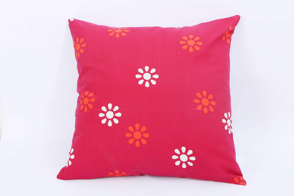 Red Florent - Cotton Cushion Cover