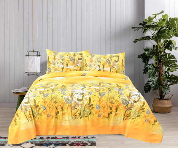 Medallion Floral Cotton Bed Sheet