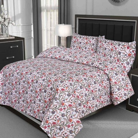 Abstract Flowers Cotton Bed Sheet - Daily Essentials