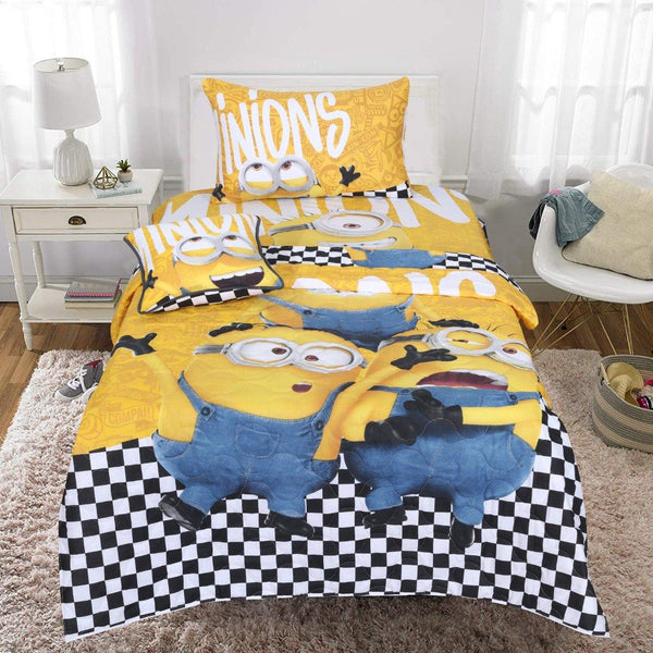 Minions Single Bedsheet Comforter Set - Daily Essentials