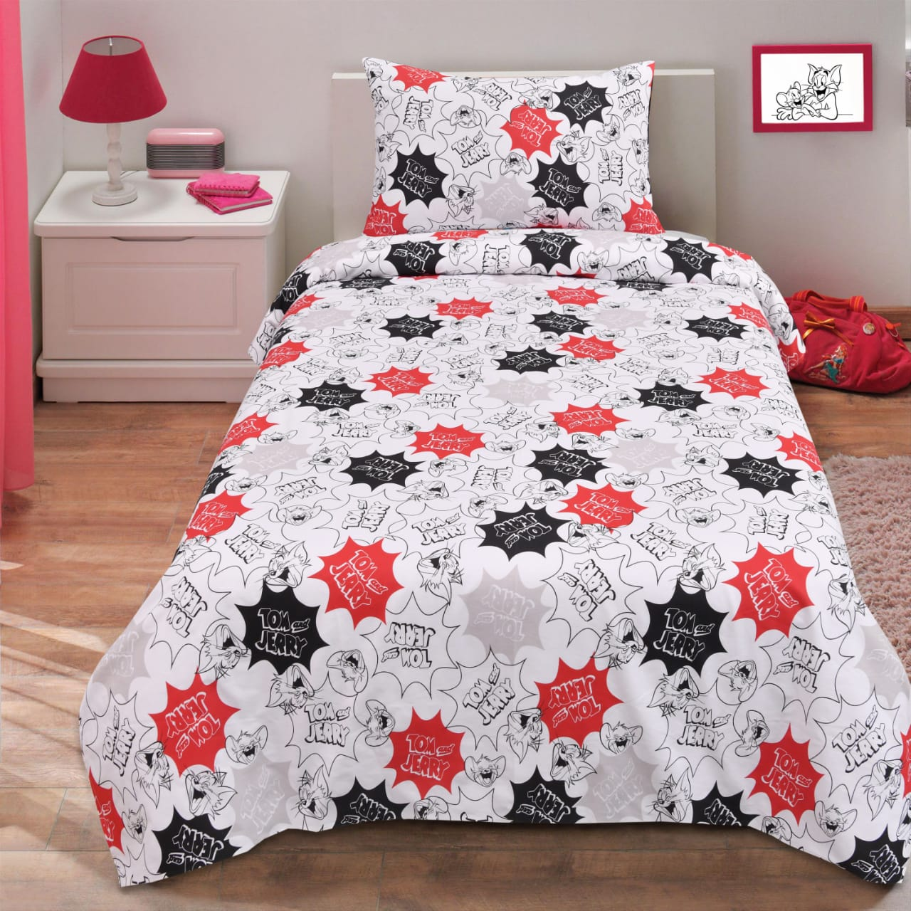 Tom & Jerry Single Bed Sheet