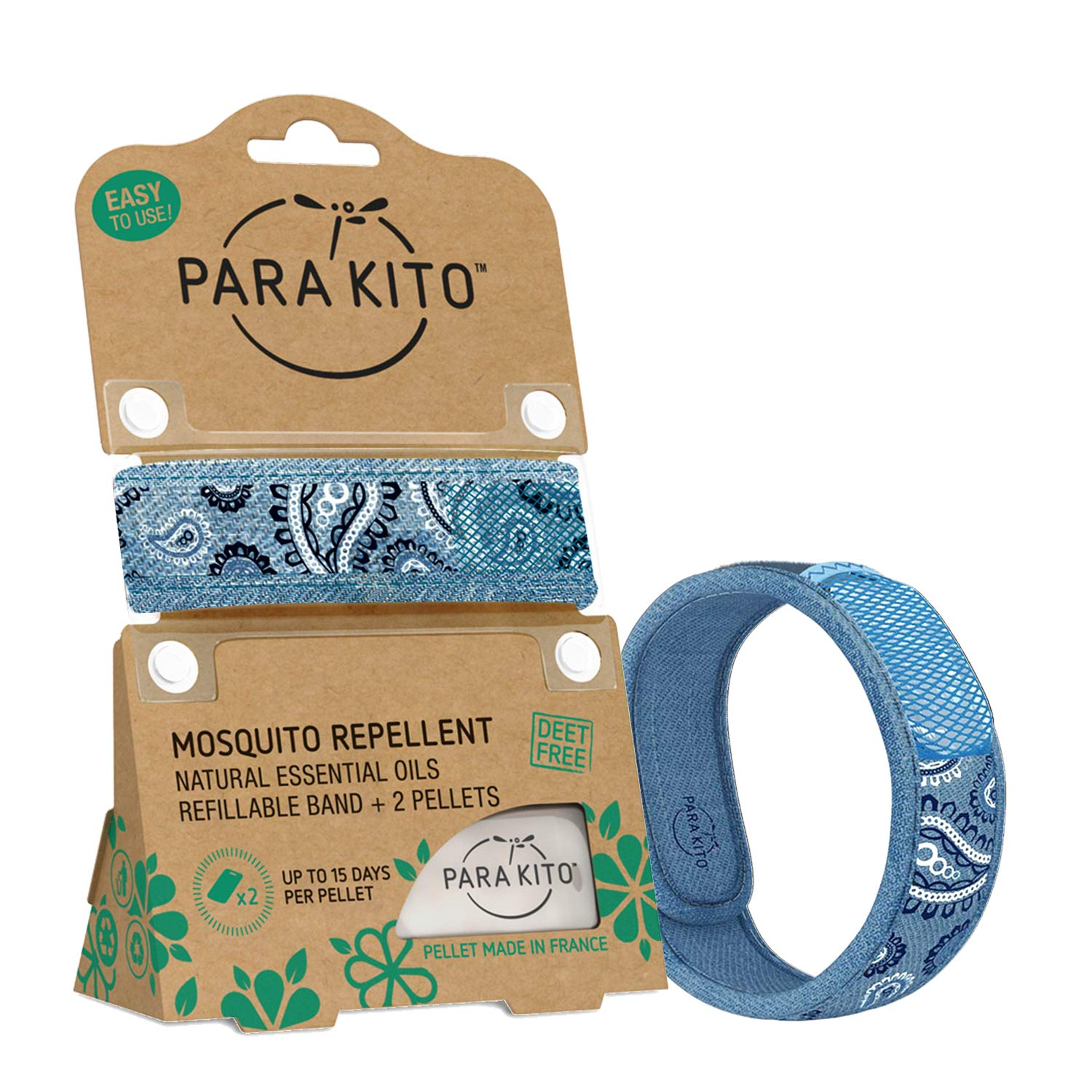 Mosquito Repellent Wristband - Blue Jeans