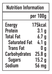 Ice Age Caramel Popcorn icecream nutrition label
