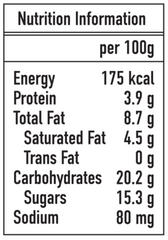 Ice Age Chocolate hazelnut nutrition information
