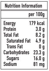 Ice Age Cookies N' Cream nutrition information