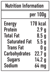 Ice Age Ginger Milk Pudding nutrition information