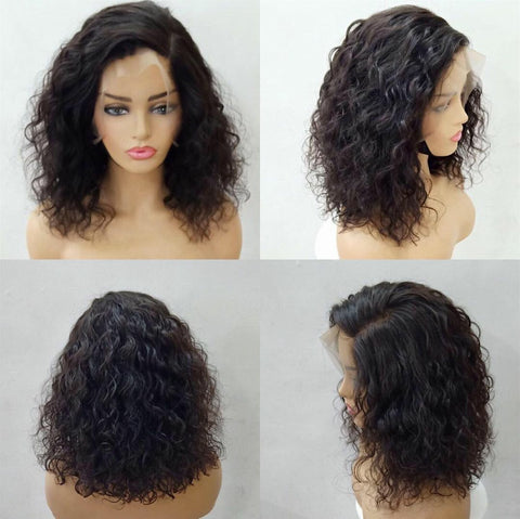 Waterwave Lace Frontal Bob Wig