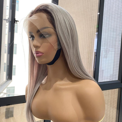 Straight Grey Lace Frontal Wig
